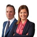 Janne Haapakari ja Anni Ala-Mettälä, osakassopimusten asiantuntijoita